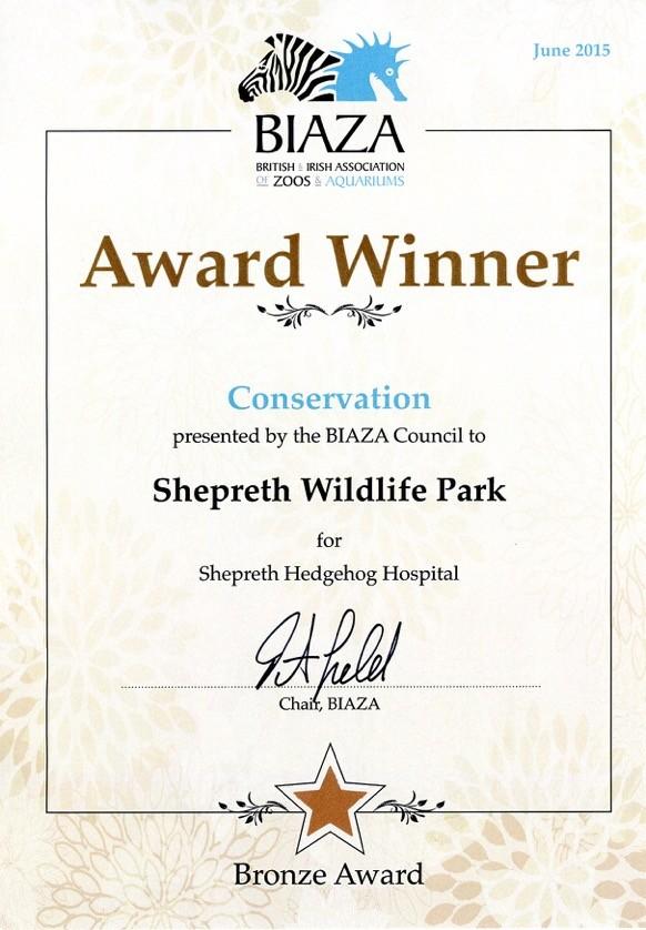 Awards & Associations - Shepreth Wildlife Park
